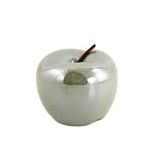 Moderne Skulptur Dekofigur Apfel grau aus Dolomit 12x12x10 cm