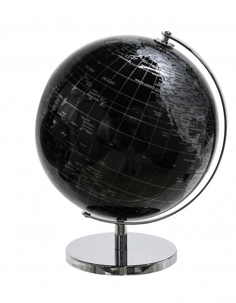 Globe 'World * black / silver metal / plastic with turning function height 28 cm diameter 20 cm