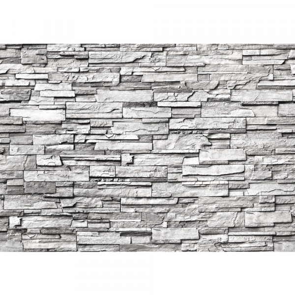 Vlies Fototapete Noble Stone Wall - grau - anreihbar Steinwand Tapete Steinoptik Stein Wand Wall