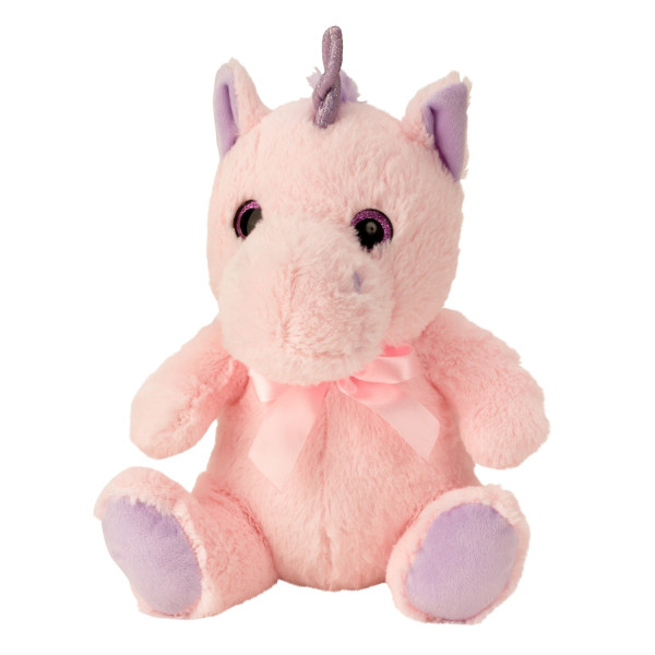 Cuddly plush unicorn plush toy cuddly toy sitting purple pink Height 33 cm - to love