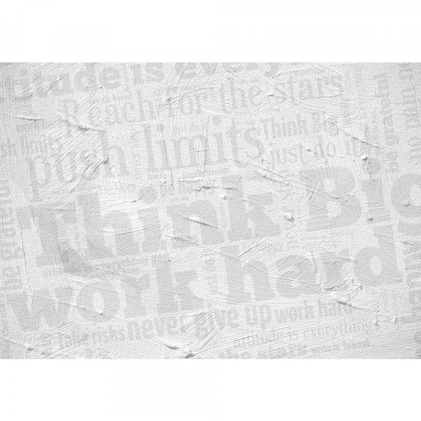 Vlies Fototapete Wall of BIG Words Schriftkunst Tapete Ornamente Schrift Text Hintergrund Office