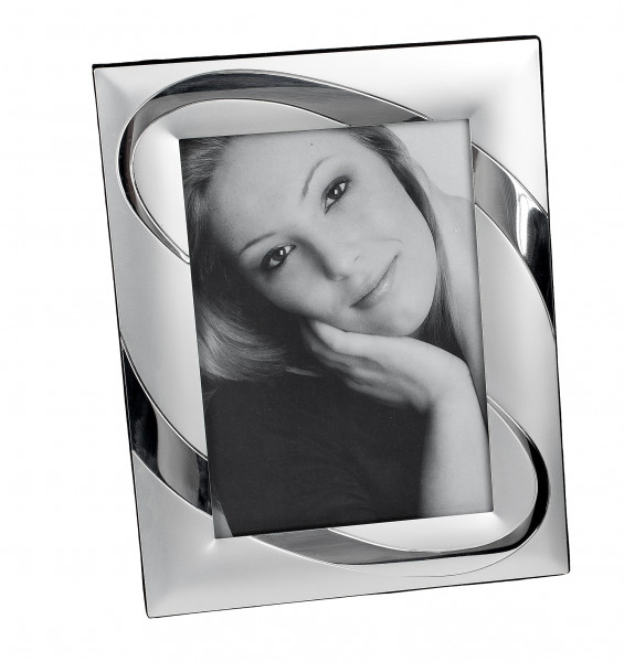 Modern photo frame Photo frame made of aluminum silver glossy / matt 13x18 cm