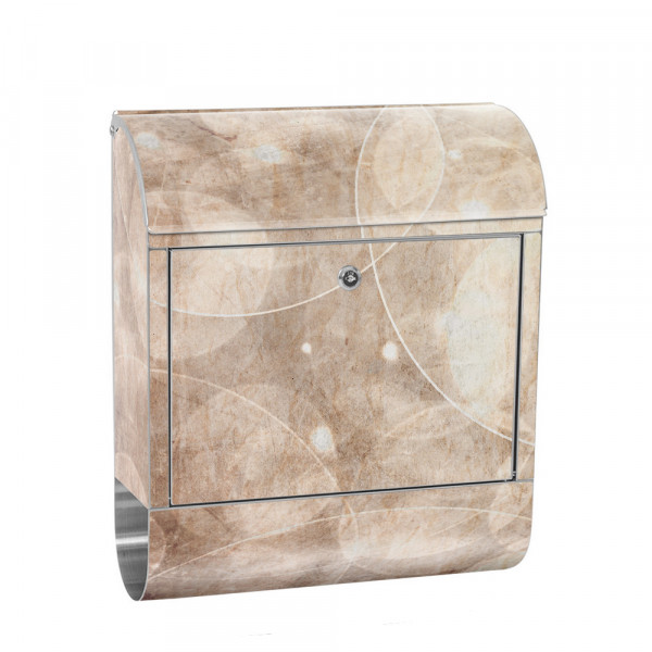 Stainless Steel Letterbox with Newspaper roll & Motif abstract soap Bubbles | No. 0193
