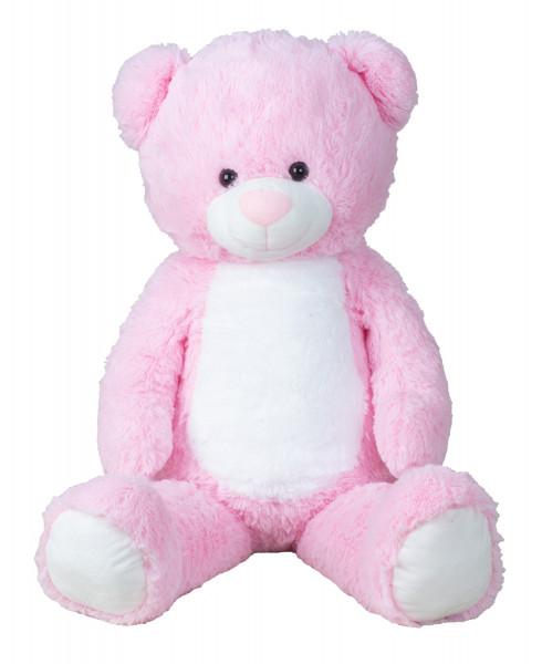 Giant teddy bear cuddly bear XXL 100 cm tall Pink plush bear cuddly toy velvety soft