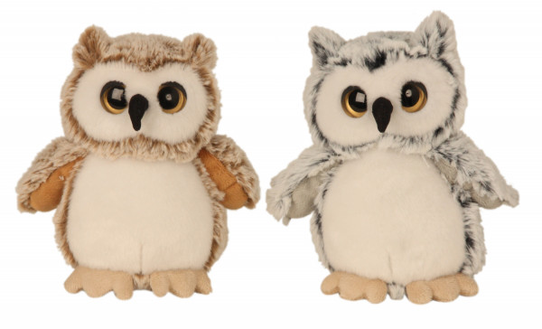 Cuddly soft owl plush toys Cuddly toys in set of 2 height 17 cm