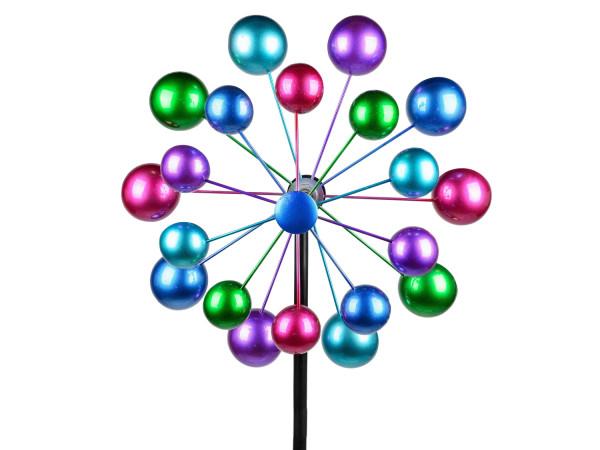 gr/ün Lifestyle /& More Windrad Windspiel Blume als Gartenstecker aus Metall blau lila und rot mit Einer L/änge von 122 cm Durchmesser 30 cm