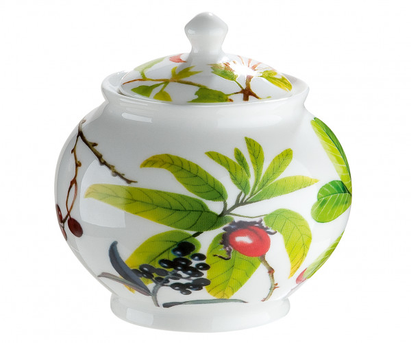 Moderne Zuckerdose Deko Dose aus Porzellan in weiß/grün Höhe 9,5 cm Breite 9 cm