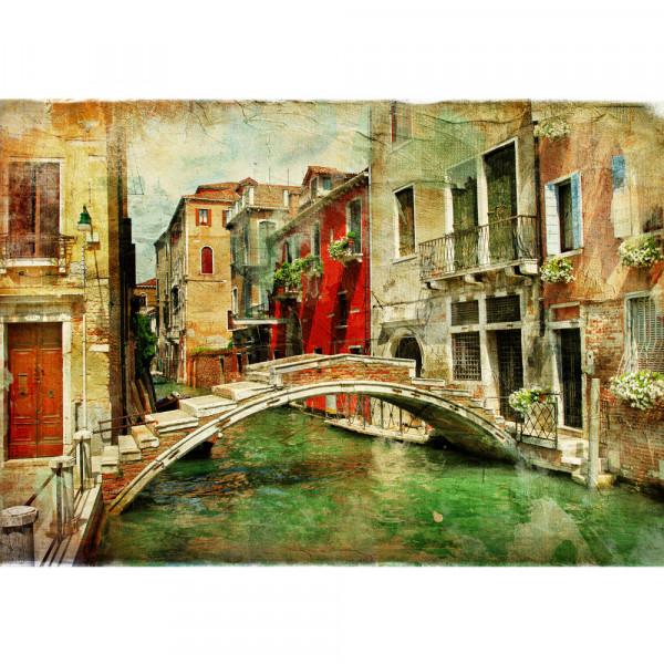 Vlies Fototapete Great Venice Italien Tapete Venedig Kanal Italien bunt bunt