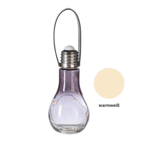 Decorative Light Bulb with LED (Grey, 18?cm