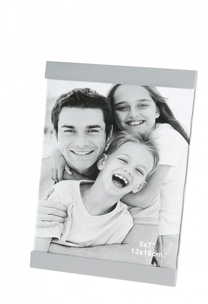 Modern picture frame Photo frame made of aluminum silver 13x18 cm high and transversely adjustable