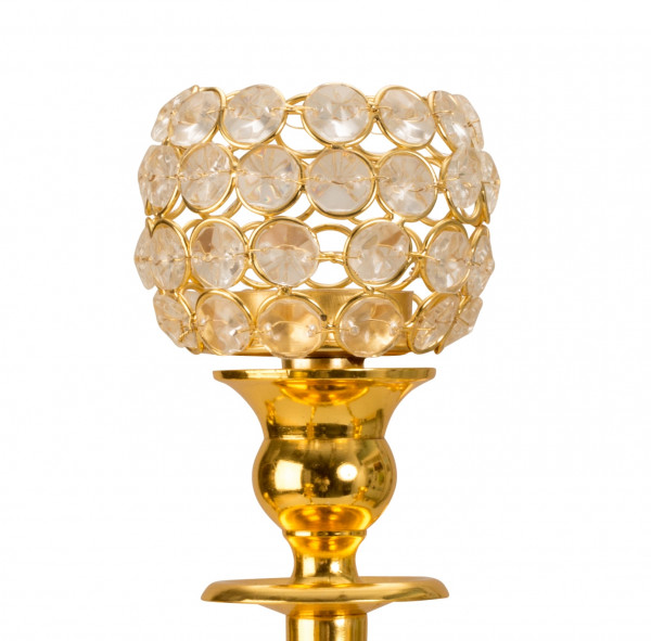 5 pieces matching glass inserts gold for normal candlestick candlestick candelaber height 8,5 cm