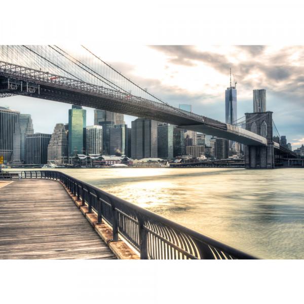 Vlies Fototapete New York Brooklyn Bridge Skyline USA Tapete New York USA Skyline Sephia Brooklyn