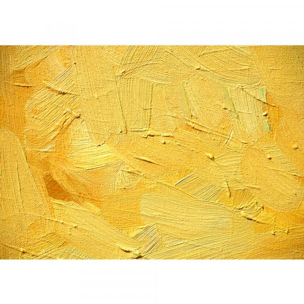 Vlies Fototapete Wall of yellow shades Kunst Tapete Wand Spachtel Hintergrund farbige Wand gelb gelb