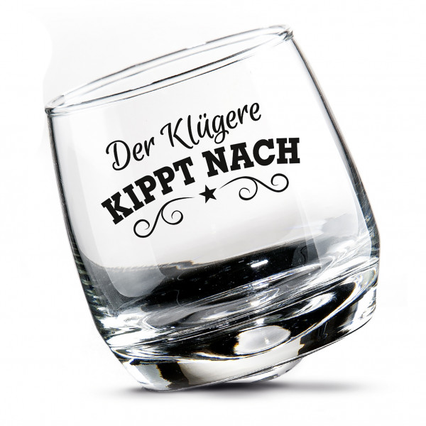 2 set Whiskey glasses Rumgläser Wackelglas swivel glass in gift box Height 8.5 cm D 7.5 cm 200ml