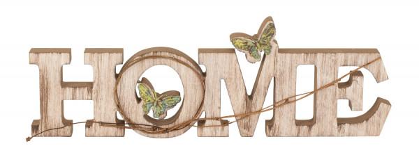 Moderner Schriftzug HOME aus Holz zur Deko auf Tisch/Wand 45x15 cm