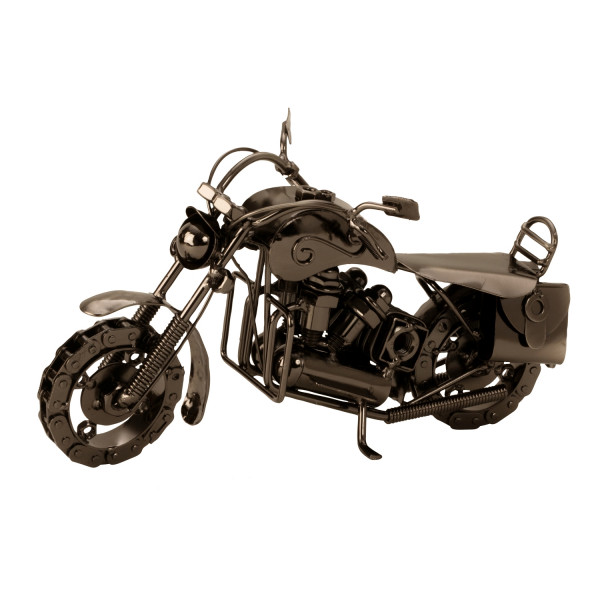 Modern sculpture Dekofigur motorcycle metal length 26 cm height 15 cm