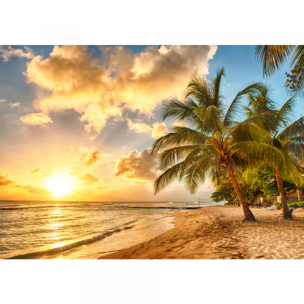 Vlies Fototapete Dream Beach Strand Tapete Strand Meer Sonnenaufgang Beach Wasser Blau