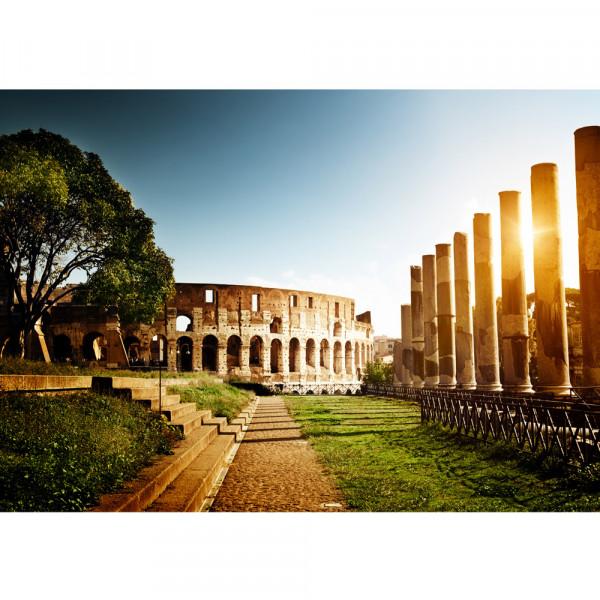 Vlies Fototapete Colosseum Walk - Rome Italien Tapete Rom Kolosseum Italien Landschaft Architektur