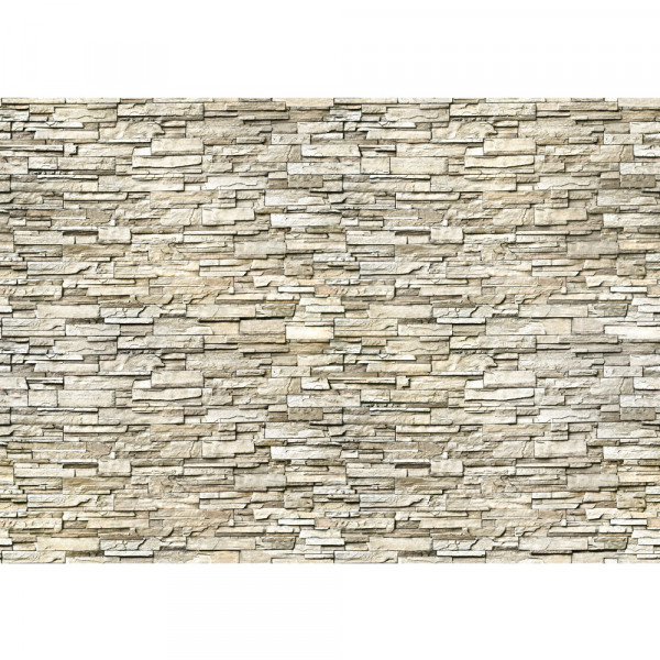 Vlies Fototapete Noble Stone Wall 2 - beige - anreihbar Steinwand Tapete Steinoptik Stein Wand Wall