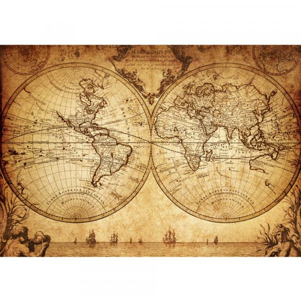 Vlies Fototapete Vintage World Map Geographie Tapete Weltkarte Atlas Vintage Atlas alte Karte