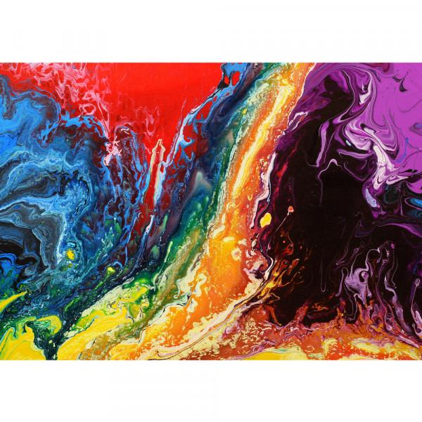 Vlies Fototapete Rainbow Wall Kunst Tapete Bunt Abstrakt Hintergrund Dekoration bunt