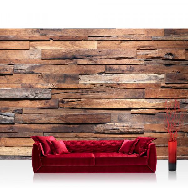Vlies Fototapete Holz Tapete Holzwand Steinoptik Holz Wand Mauer Holztapete braun