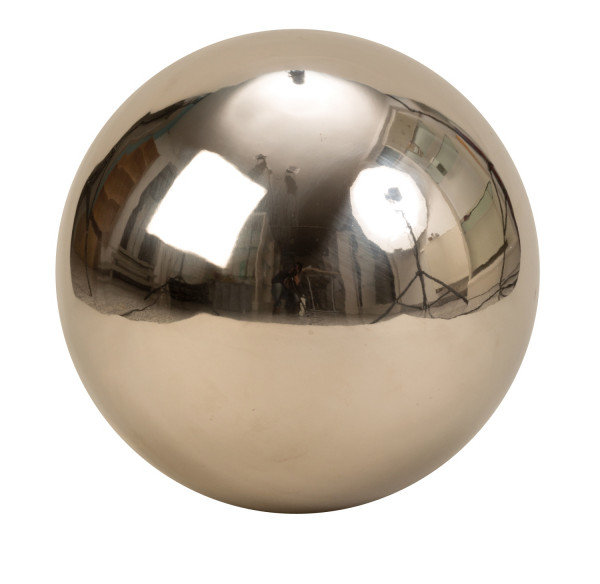 Modern decorative ball Garden decoration Stainless steel ball in silver diameter 30 cm
