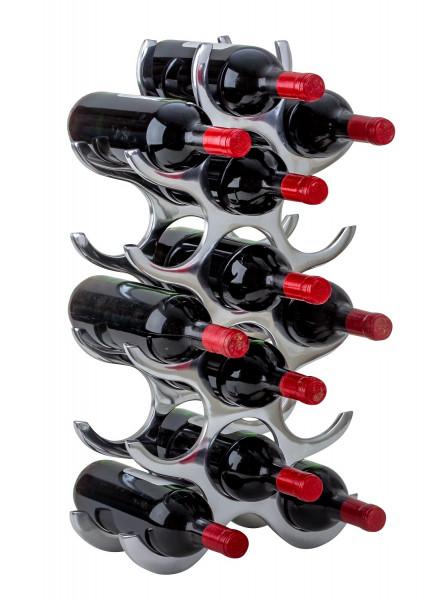 Modern wine rack bottle holder for storing 15 bottles of metal Height 58 cm Width 31 cm
