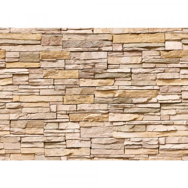 Vlies Fototapete Asian Stone Wall - natural - anreihbar Steinwand Tapete Steinoptik Stein Wand Wall