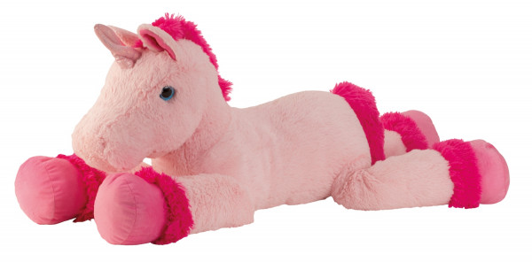 Kuscheliges riesiges Plüsch Einhorn Plüschtier Kuscheltier XXL 110 cm Lang in rosa/pink zum liebhabe