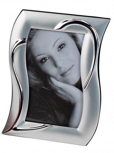 Moderner Fotorahmen Bilderrahmen silber in Herz Form 10x15 cm